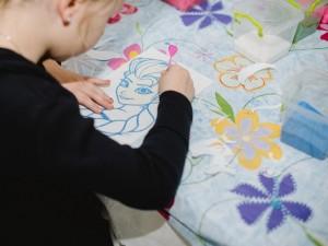 Майстер-клас з малювання кольоровим піском